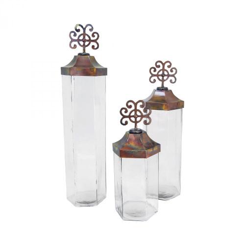 Brands/Pomeroy By Pomeroy Tejas Set of 3 Jars 609268