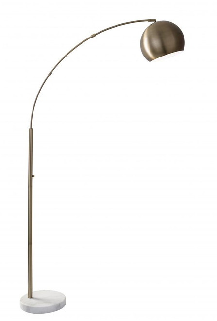 Lamps By Adesso Astoria Arc Lamp in Brass 5170-21