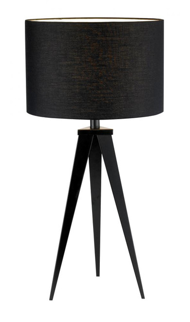 Lamps By Adesso Director Table Lamp in Black 6423-01