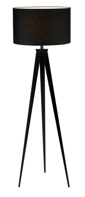Lamps By Adesso Director Floor Lamp in Black 6424-01