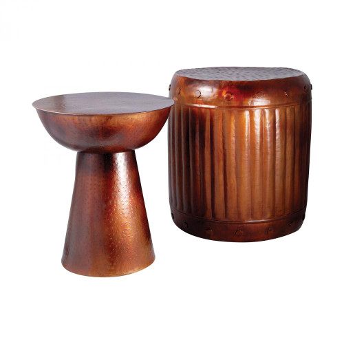 Brands/Pomeroy By Pomeroy Truffle Set of 2 Table And Barrel Stool 951626
