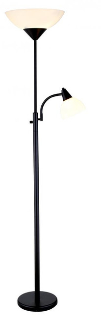 Lamps By Adesso Piedmont Combo Floor Lamp in Black 7202-01