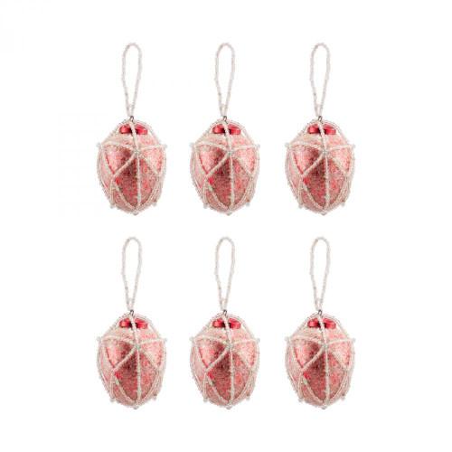 Brands/Pomeroy By Pomeroy Beaded Ornaments Set - Oval 519239/S6