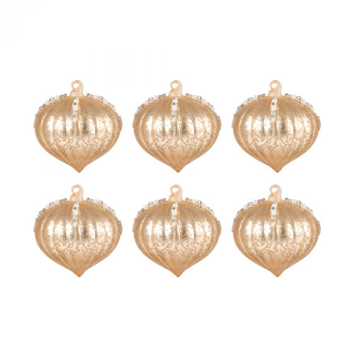 Brands/Pomeroy By Pomeroy Pointed Ball Set of 6 Ornaments In Gold 519611/S6