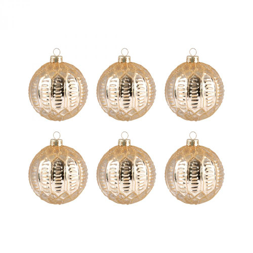 Brands/Pomeroy By Pomeroy Round Optic Set of 6 Ornaments 519635/S6