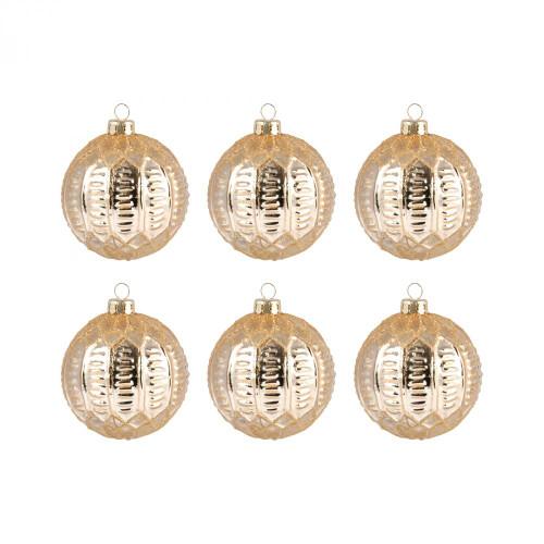 Brands/Pomeroy By Pomeroy Round Optic Set of 6 Ornaments 519635/S6