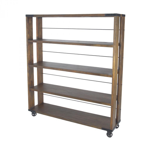Home Decor By Sterling Industries Penn Shelving Unit In Farmhouse Stain - Large 71050