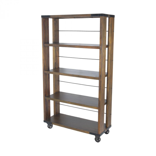 Home Decor By Sterling Industries Penn Shelving Unit In Farmhouse Stain - Medium 71051