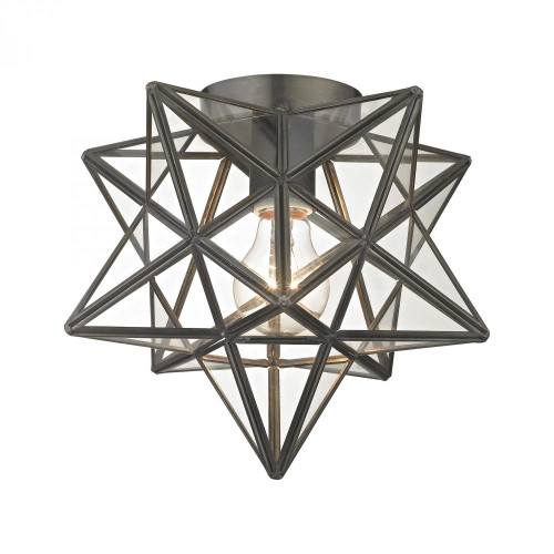 Ceiling Lights By Sterling Industries Sirius Oiled Bronze 10-Inch Metal Flush Mount with Clear Glass 1145-005