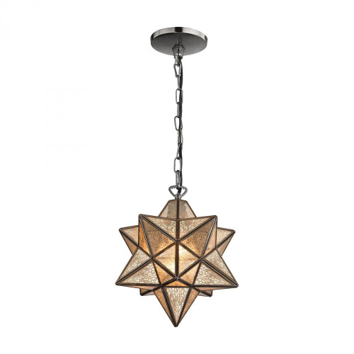 Chandeliers/Pendant Lights By Sterling Industries Sirius Oiled Bronze 10-In Metal Pendant with Antiqued Mercury Glass 1145-007