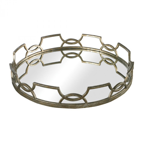 Home Decor By Sterling Industries Hucknall Iron Scroll Mirrored Tray 16x16 114-90