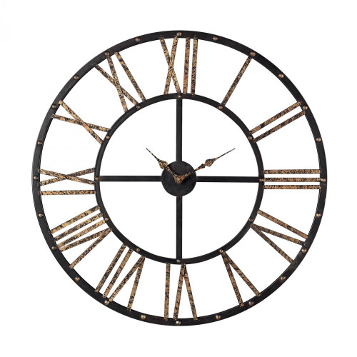 Home Decor By Sterling Industries Metal Framed Roman Numeral Open Back Wall Clock 129-1024