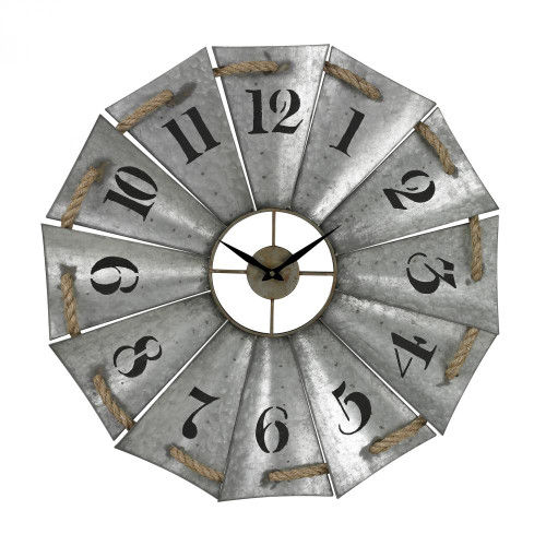 Home Decor By Sterling Industries Aluminum And Rope Wall Clock 129-1091