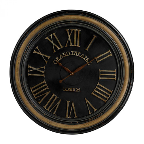 Home Decor By Sterling Industries Grand Theatre Large Clock With Distressed Hand painted Frame 36x36 130-006