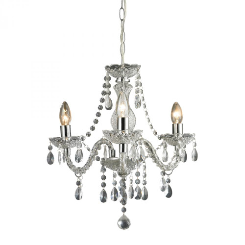 Chandeliers/Mini Chandeliers By Sterling Industries Theatre-3 Light Clear Mini Chandelier 144-015