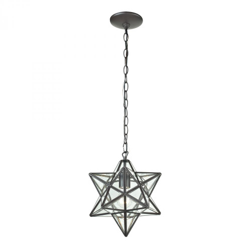 Chandeliers/Pendant Lights By Sterling Industries Star Star-1Light Glass Pendant Lamp 9x10 145-001