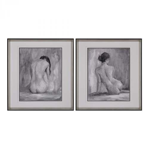 Home Decor By Sterling Industries Figure In Black And White I And Ii - Fine Art Print Under Glass 151-001/S2