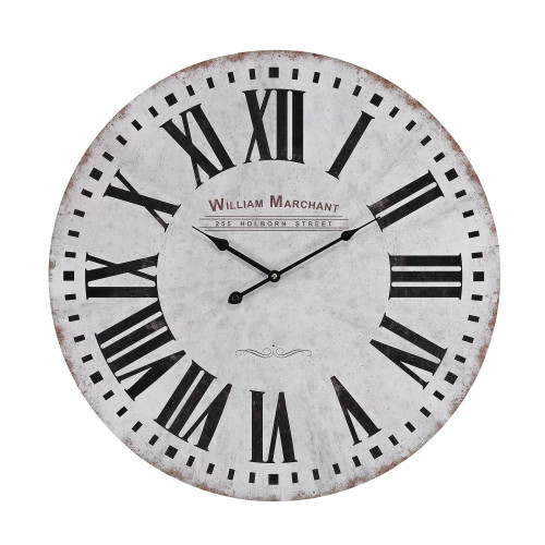 Home Decor By Sterling Industries Aged White Wall Clock 171-005