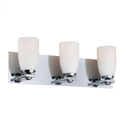 Wall Lights By Alico Sphere 3 Light Vanity In Chrome And White Opal Glass BV1523-10-15
