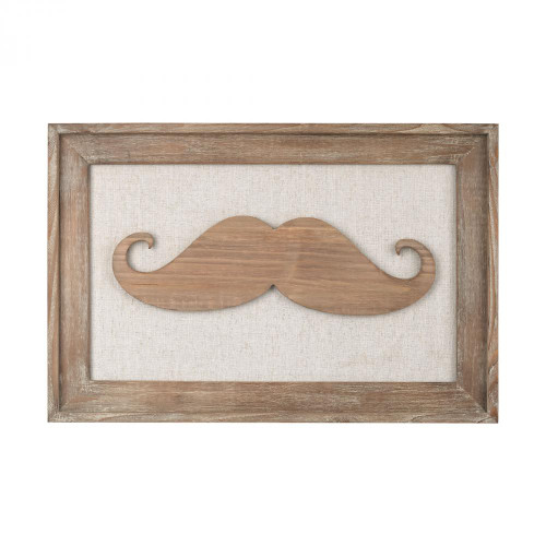 Home Decor By Sterling Industries Moustache on Linen 3138-244