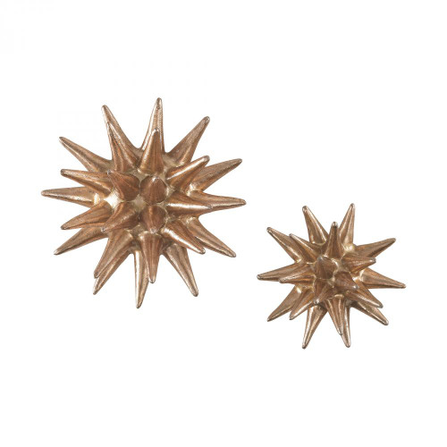 Home Decor By Sterling Industries Parsec Gold 4-6 Inch Composite Wall Decor In Copper 3138-265/S2