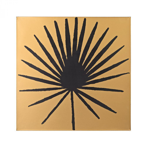 Home Decor By Sterling Industries Palm Frond on Metallic Gold Wood 351-10169