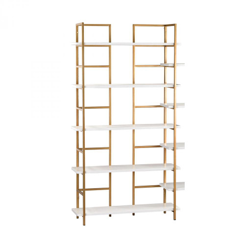 Home Decor By Sterling Industries White and Gold Shelving Unit 351-10204