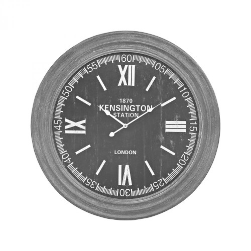 Home Decor By Sterling Industries London Wall Clock In Preda Aged Grey 351-10245