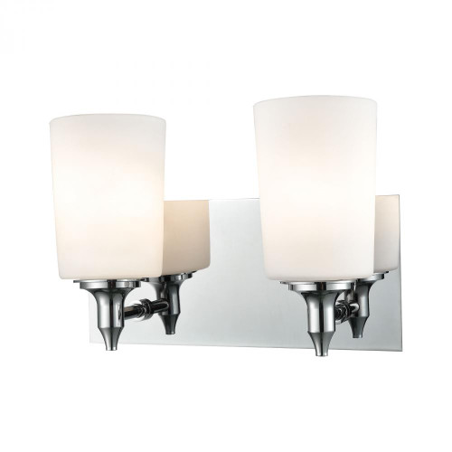 Wall Lights By Alico Alton Road 2 Light Vanity In Chrome And Opal Glass BV2412-10-15