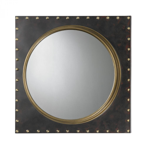 Home Decor By Sterling Industries Metal Frame Rivet Porthole Mirror 51-004