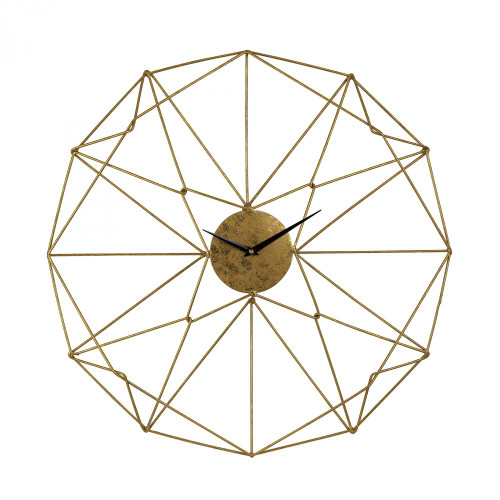 Home Decor By Sterling Industries Angular Wirework Wall Clock 51-029