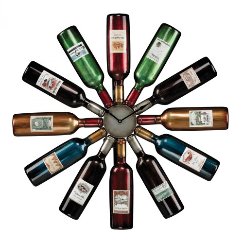 Home Decor By Sterling Industries Wine Bottle Clock 51-10085