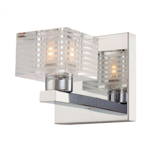 Wall Lights By Alico Quatra 1 Light Vanity In Chrome And Clear Glass BV311-90-15