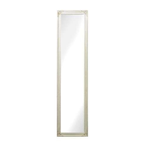 Home Decor By Sterling Industries Masalia Floor Mirror In Antique White 6100-015