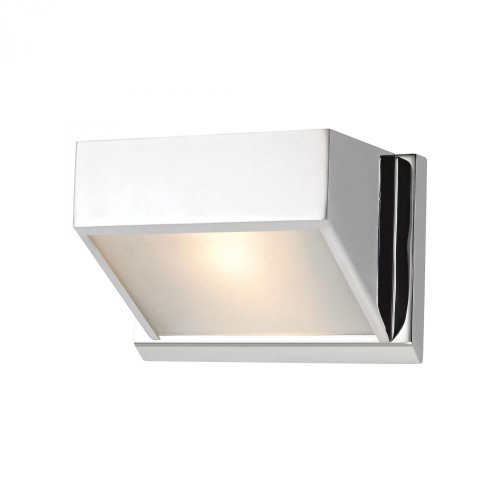 Wall Lights By Alico Devon 1 Light Vanity In Chrome With Opal Glass Lens BV351-5-15