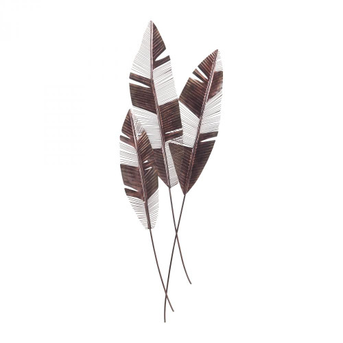Home Decor By Sterling Industries Martinique Leaf Wall Fan 7159-020/S3