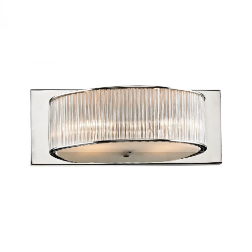 Wall Lights By Alico Somerset 2 Light Vanity In Crystal Glass And Chrome BV361-0-15