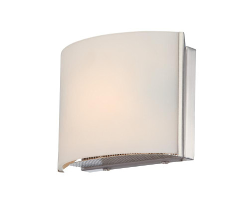 Wall Lights By Alico Pandora 1 Light Vanity In Satin Nickel And White Opal Glass BV6T1-10-16M