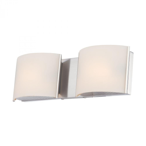 Wall Lights By Alico Pandora 2 Light Vanity In Chrome And White Opal Glass BV6T2-10-15