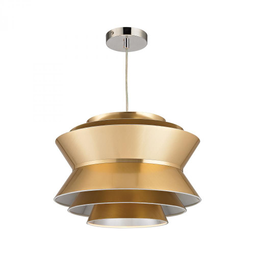 Chandeliers/Pendant Lights By Sterling Industries Godnik 1 Light Pendant In Gold D2970