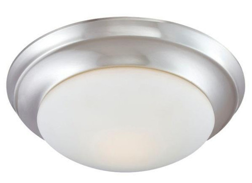 Ceiling Lights By Thomas Essentials 4.75in Two-light ceiling flush mount in Brushed Nickel finish with etched glass 190033217