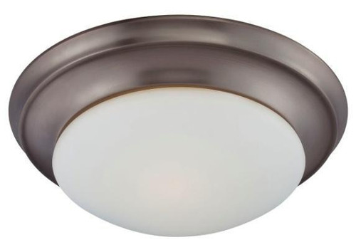 Ceiling Lights By Thomas Essentials 4.75in Two-light ceiling flush mount in Oiled Bronze finish with etched glass 190033715