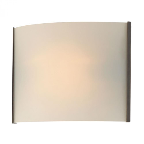 Wall Lights By Alico Pannelli 1 Light Vanity In Oil Rubbed Bronze And Hand-Molded White Opal Glass BV711-10-45