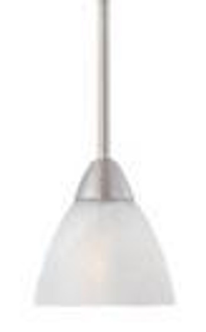 Chandeliers/Pendant Lights By Thomas One-light mini-pendant in Matte Nickel finish with etched swirl glass. 190056117