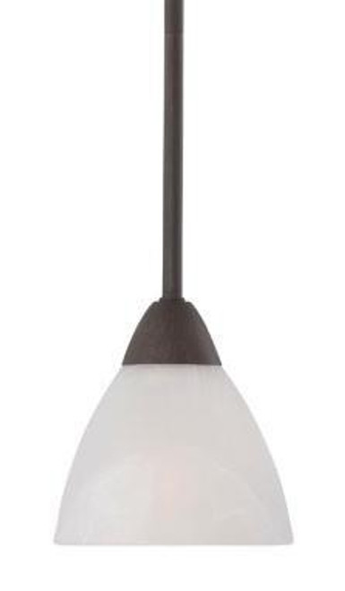 Chandeliers/Pendant Lights By Thomas One-light mini-pendant in Painted Bronze finish with etched swirl glass. 190056763