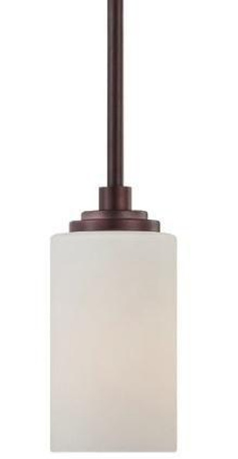 Chandeliers/Pendant Lights By Thomas One-light mini-pendant in Sienna Bronze finish with etched glass. 190060719