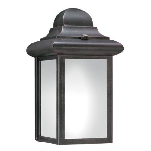 Outdoor Lights By Thomas WINDBROOK 9in One-light fluorescent die-cast aluminum outdoor wall lantern in Painted Bronze finish PL948063