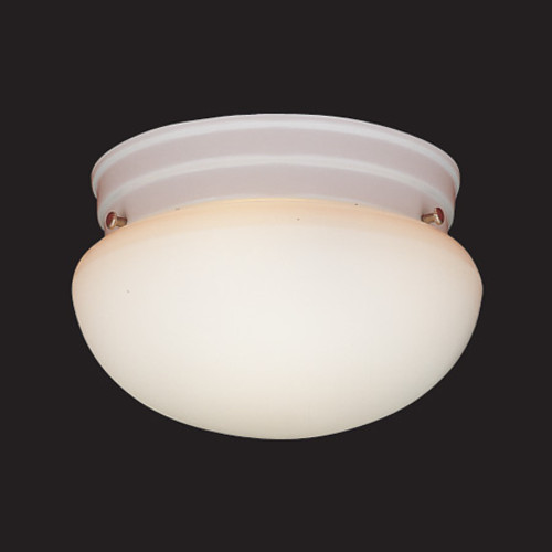 Ceiling Lights By Thomas One-light ceiling fixture in White finish with white glass. SL3258