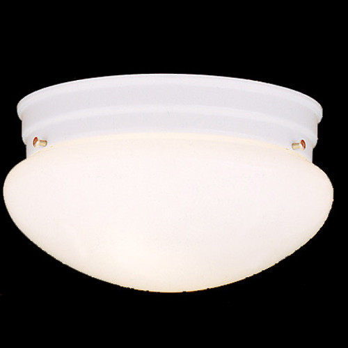 Ceiling Lights By Thomas Two-light ceiling fixture in White finish with white glass SL3268