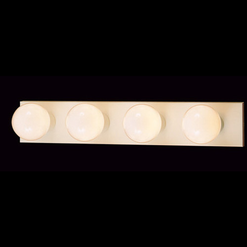 Wall Lights By Thomas Four-light bath fixture in a white finish. SL74028